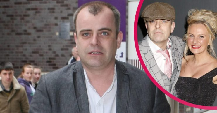 Simon Gregson's Holiday with wife (Credit: SplashNews.com)