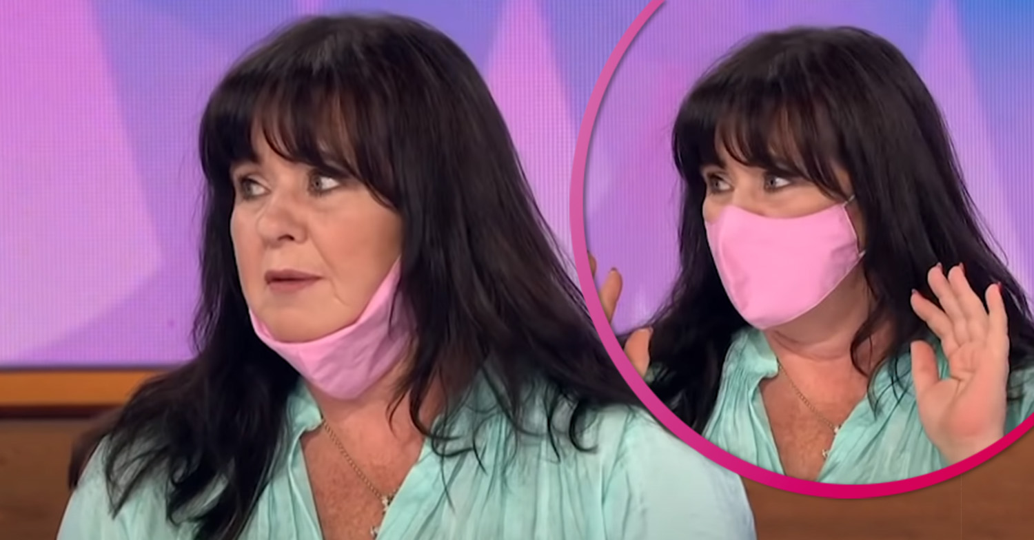 Coleen Nolan bewildered by people who don't wear masks properly