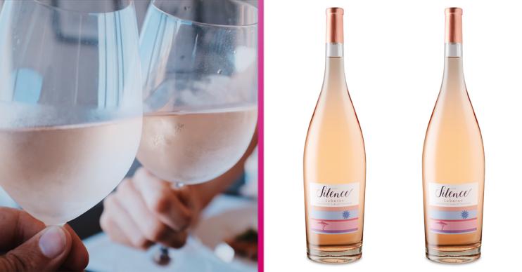 magnum of rosé wine