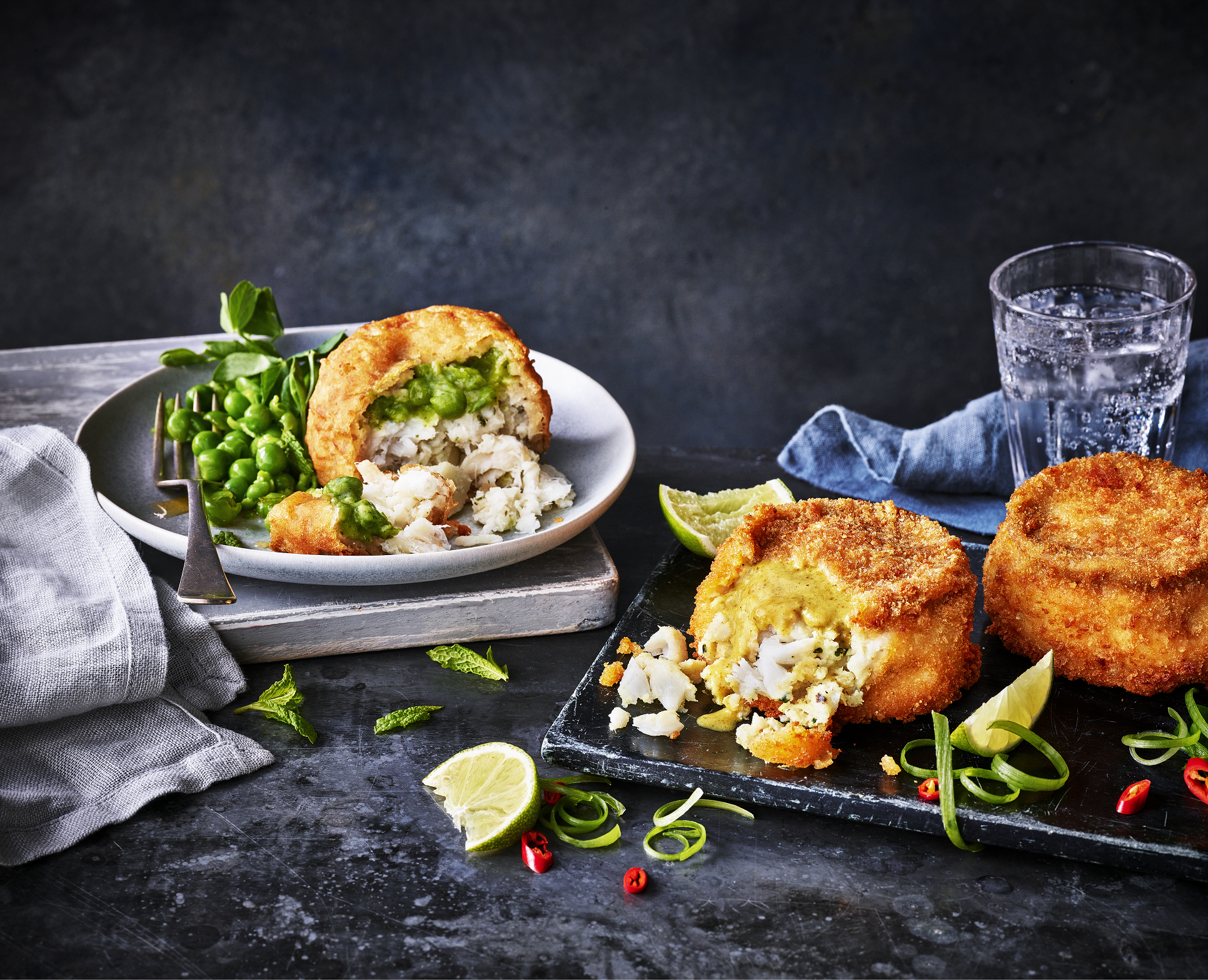 mushy pea fishcakes