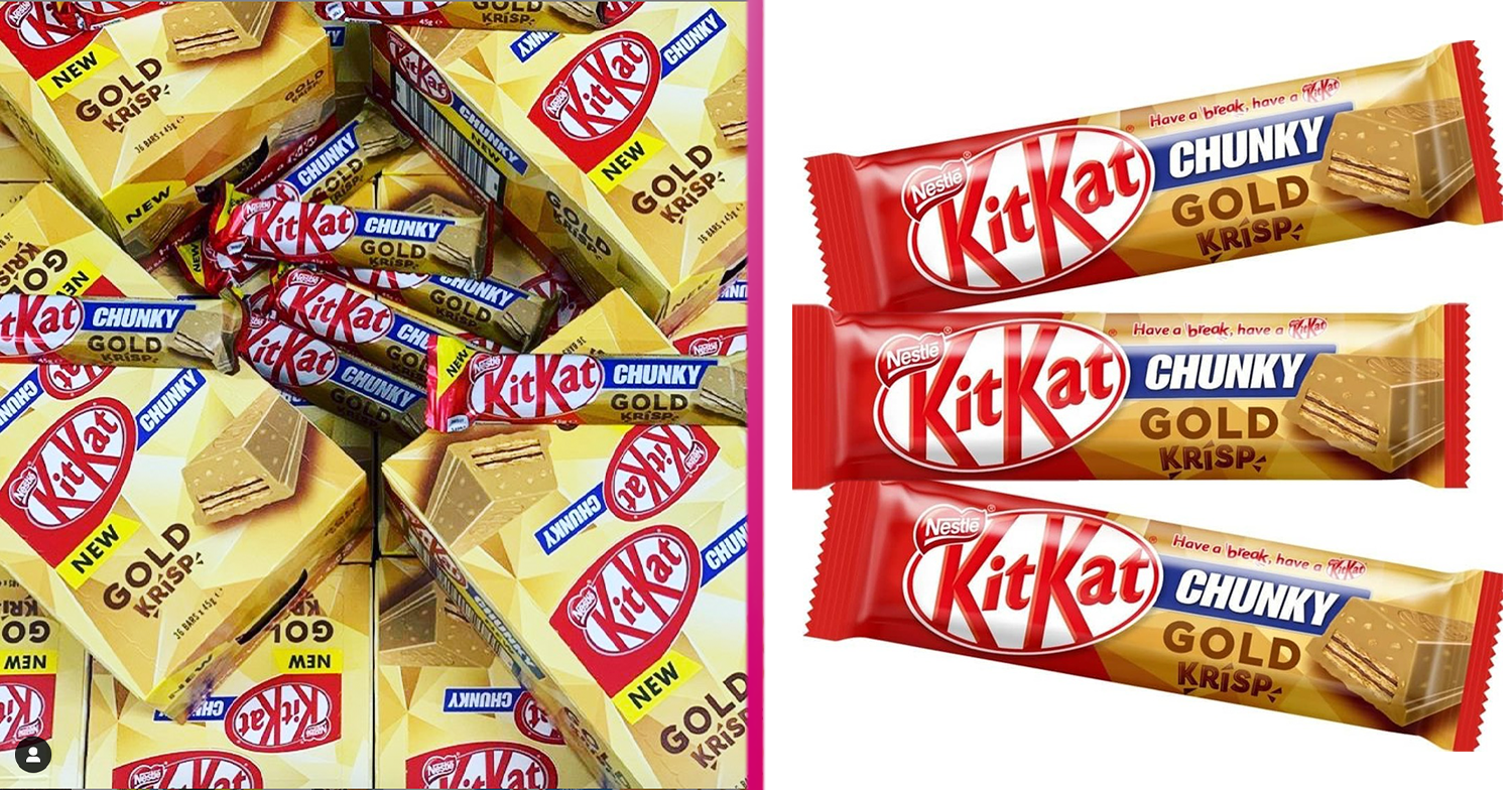 New KitKat Chunky Gold Krisp bar goes on sale in the UK next week