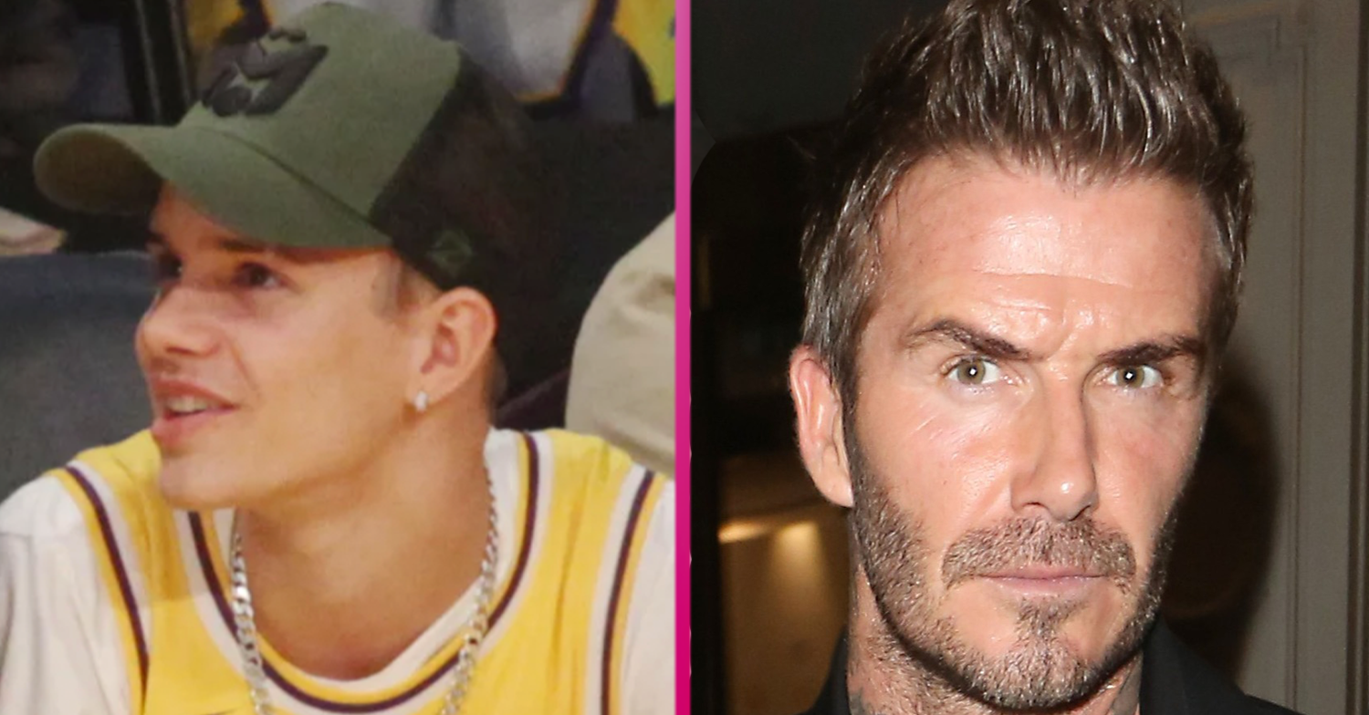 David Beckham cheekily mocked by son Romeo Beckham during golfing day out