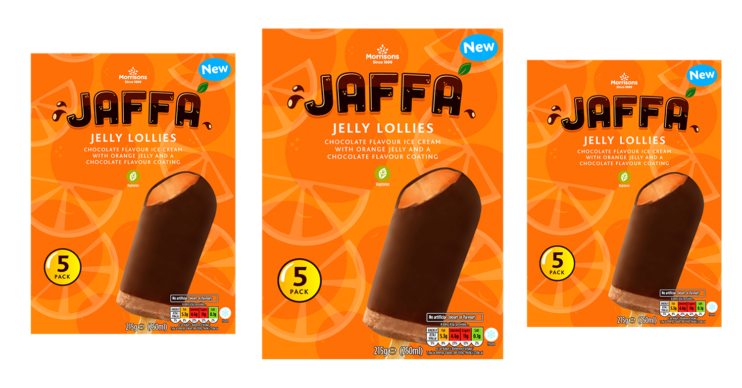 Jaffa cake ice lollies