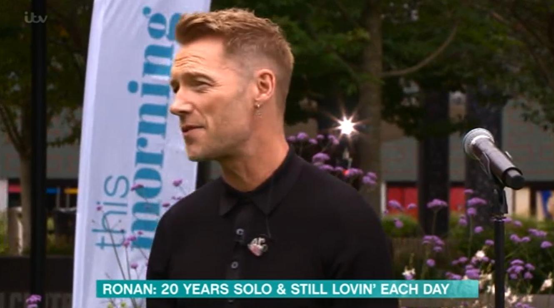 Ronan Keating earring ITV This Morning