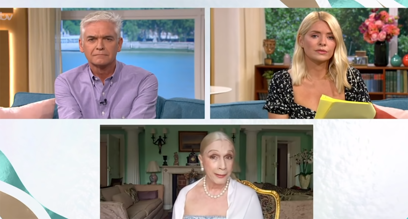 Phillip Schofield and Lady C on This Morning