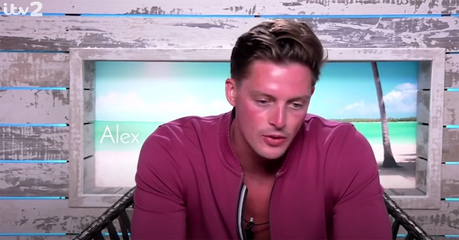 Alex George on Love Island