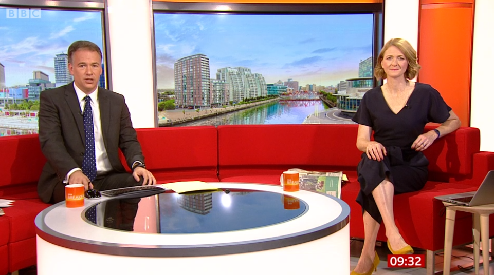Roger and Rachel on BBC Breakfast