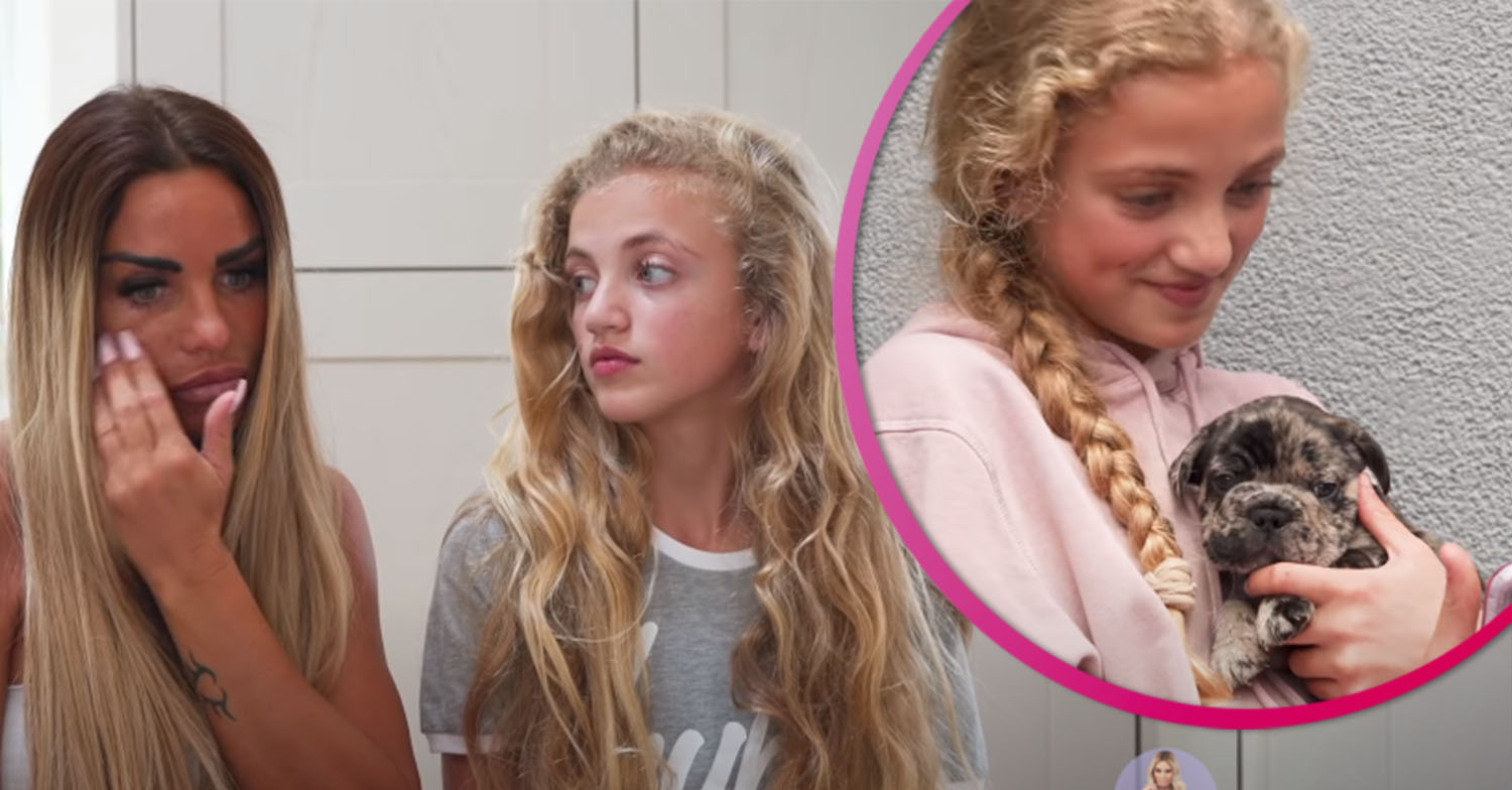 Katie Price and daughter Princess emotionally reveal how puppy died after 'tragic accident'
