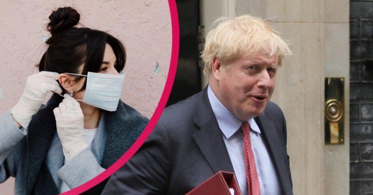 Boris Johnson, gloves, coronavirus