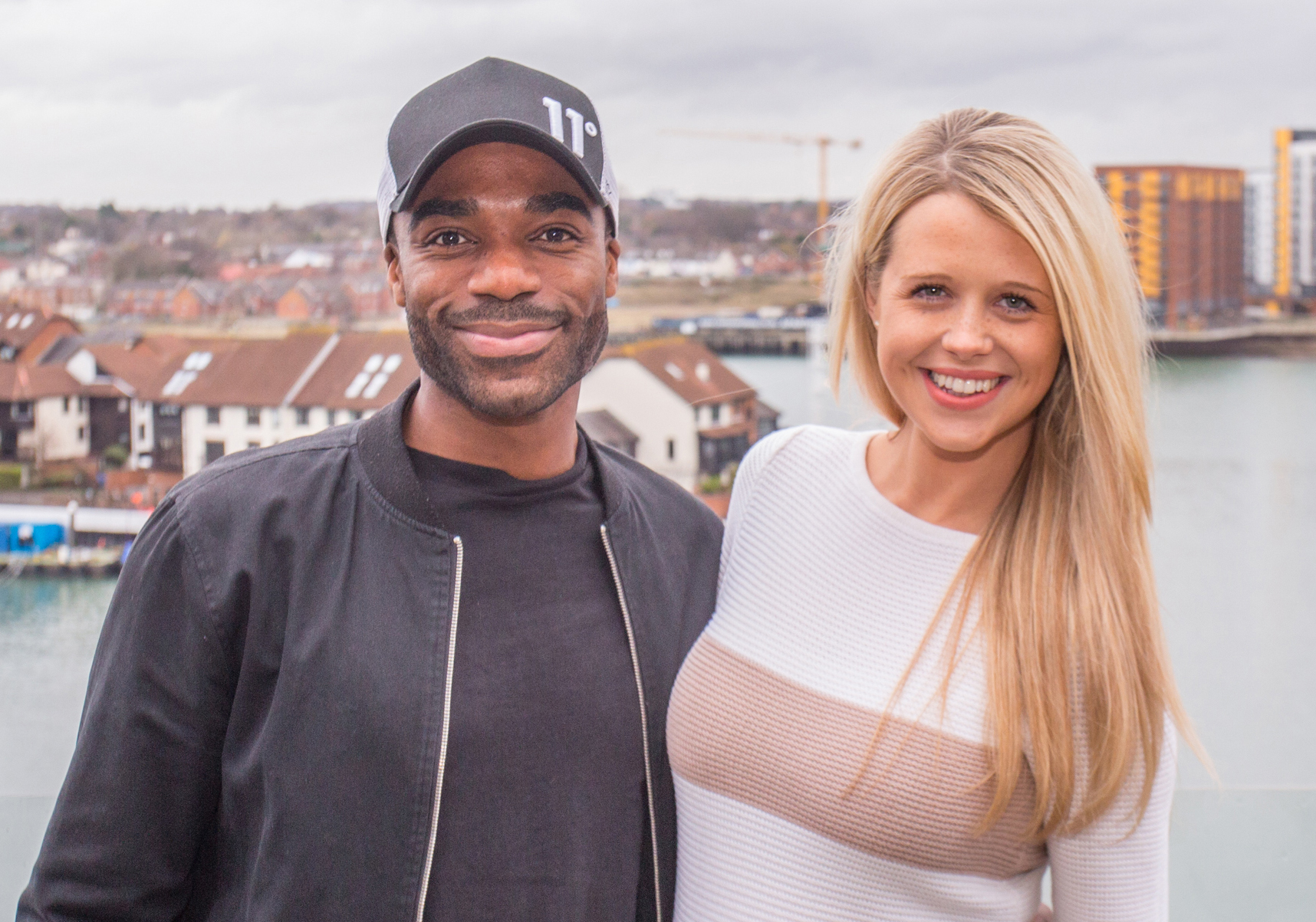 Ore Oduba and wife Portia