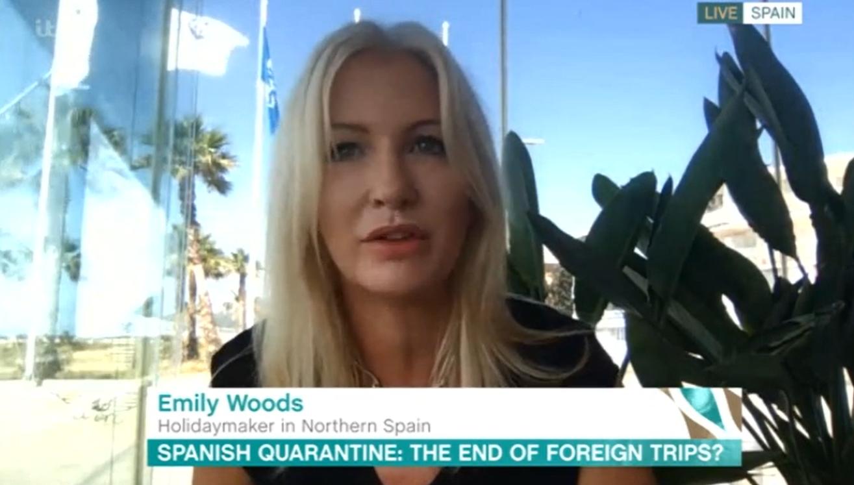 Emily Woods esta mañana ITV