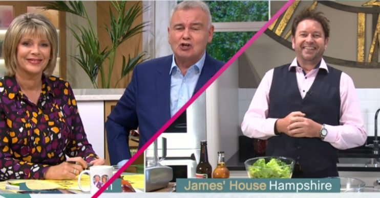 This Morning Eamonn Holmes and Ruth Langsford James Martin Credit: ITV