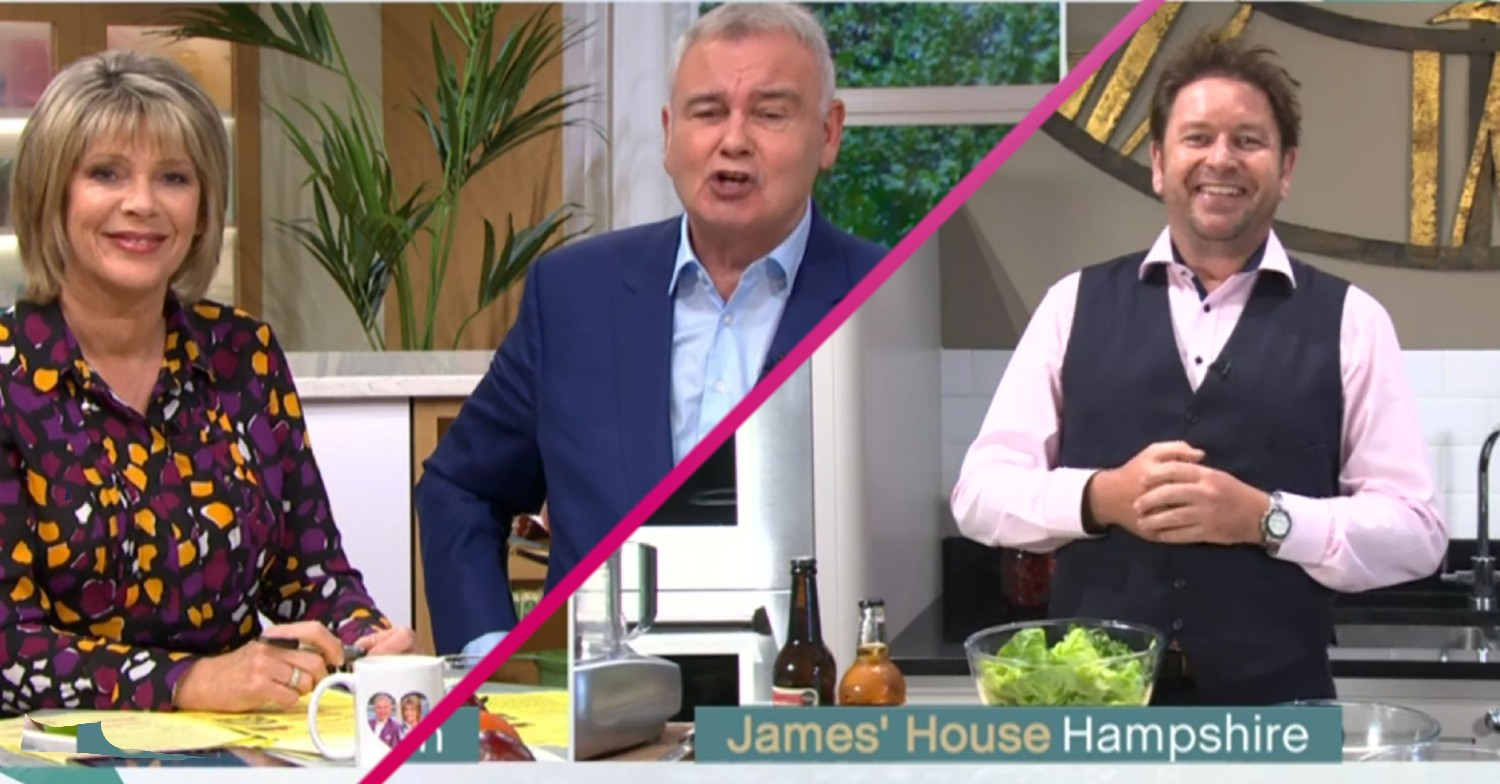 Ruth Langsford defends Eamonn Holmes after James Martin's cheeky insult on This Morning