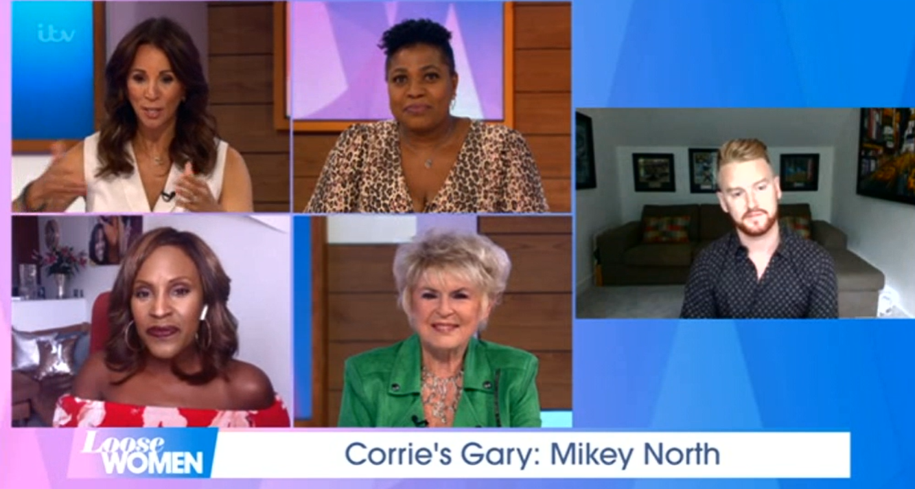 Loose Women Mikey North Coronation Street Credit: ITV