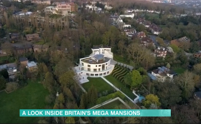 Millionaire mansions with Christine Quinn on This Morning ITV