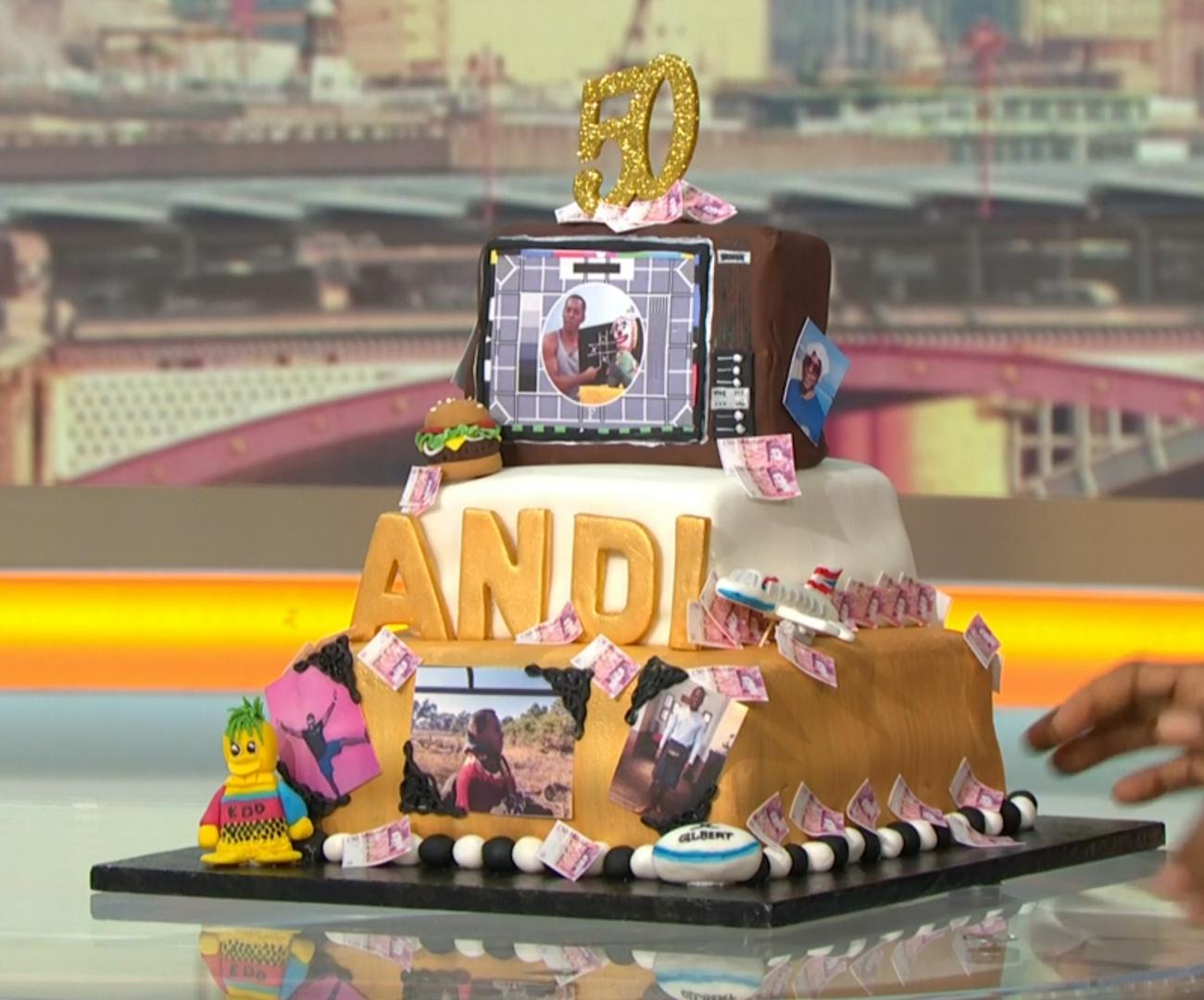 Andi Peters birthday cake (Credit: ITV)