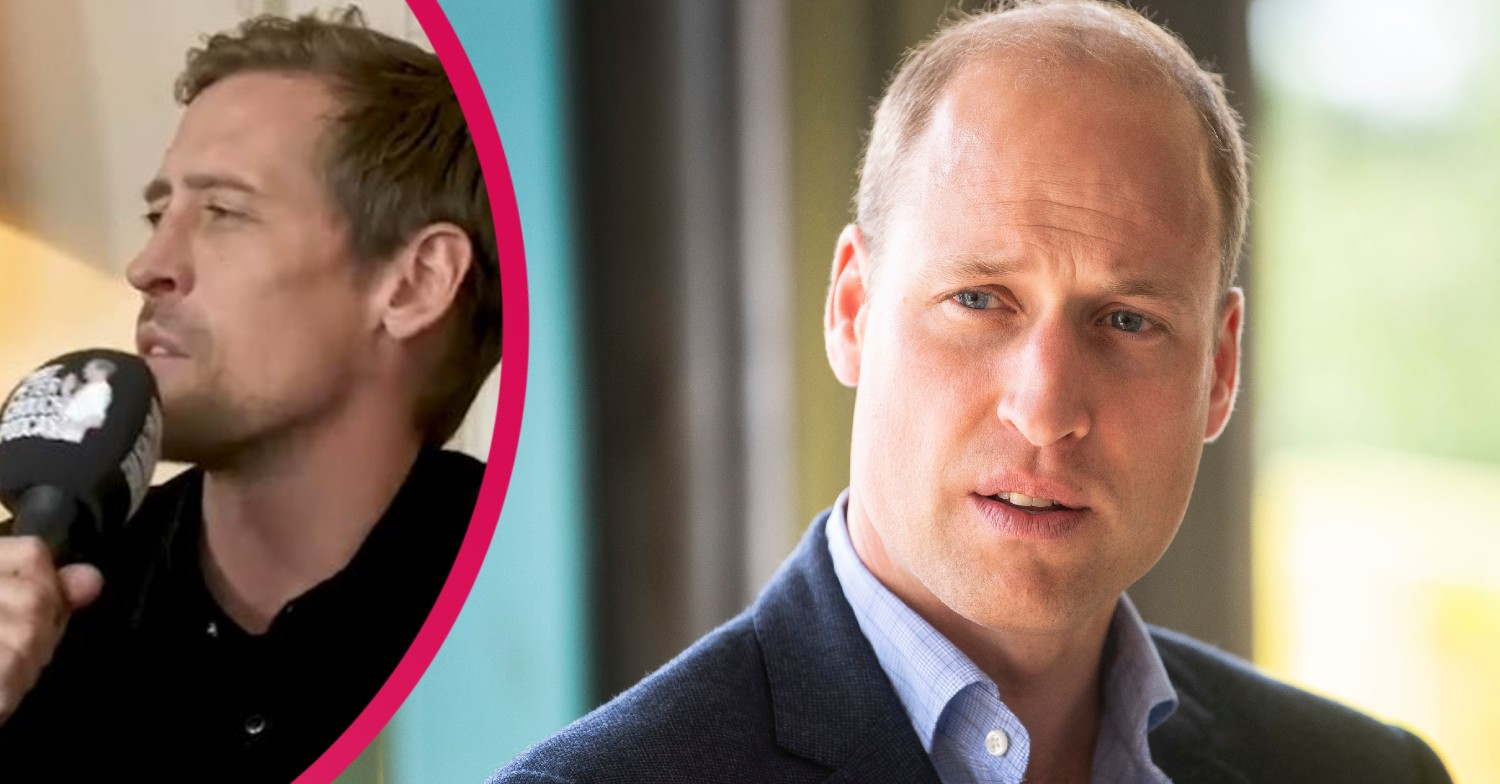 Prince William admits he's banned from using Twitter on Peter Crouch's podcast