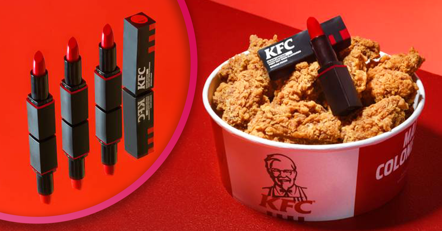 KFC offers fans the chance to win a 'bucket-red' lipstick that tastes of Hot Wings