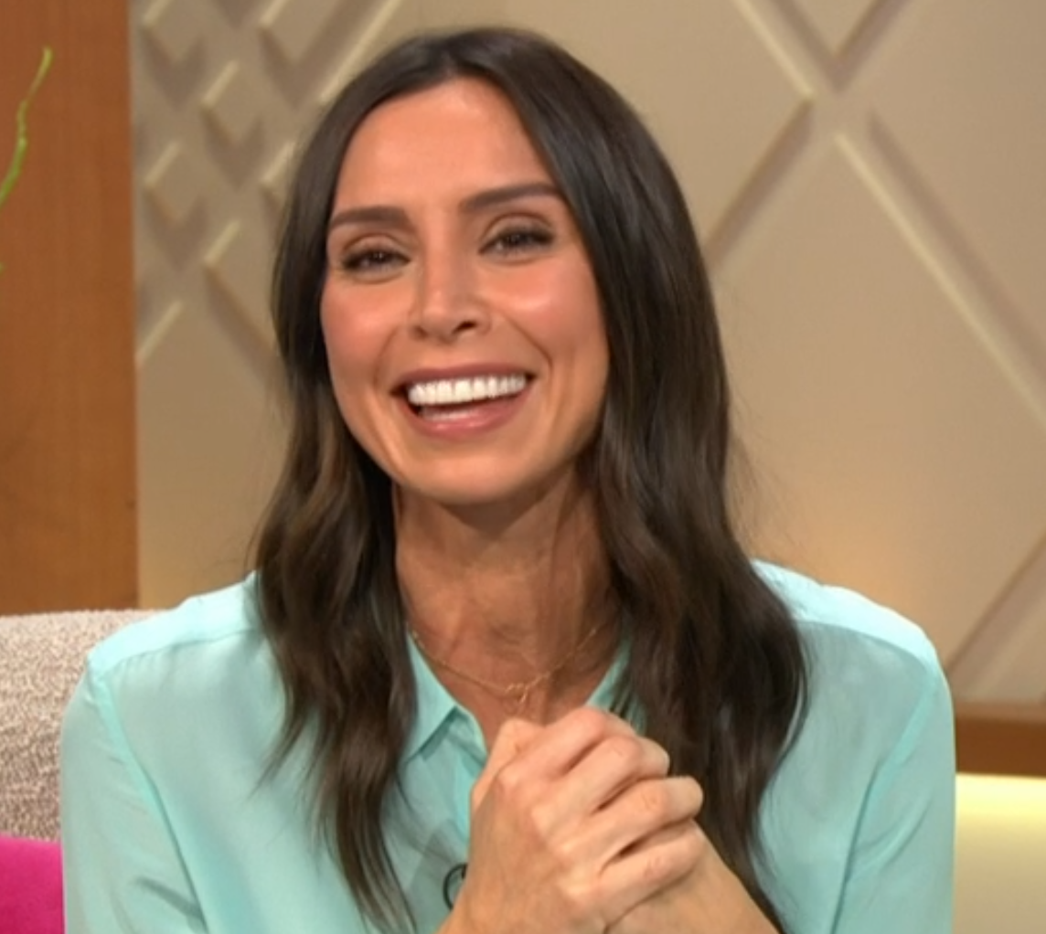 Christine Lampard apologised after Brian Blessed swore on Lorraine (Credit: ITV)