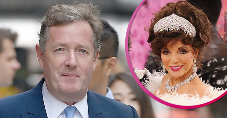 Piers Morgan on holiday with Joan Collins