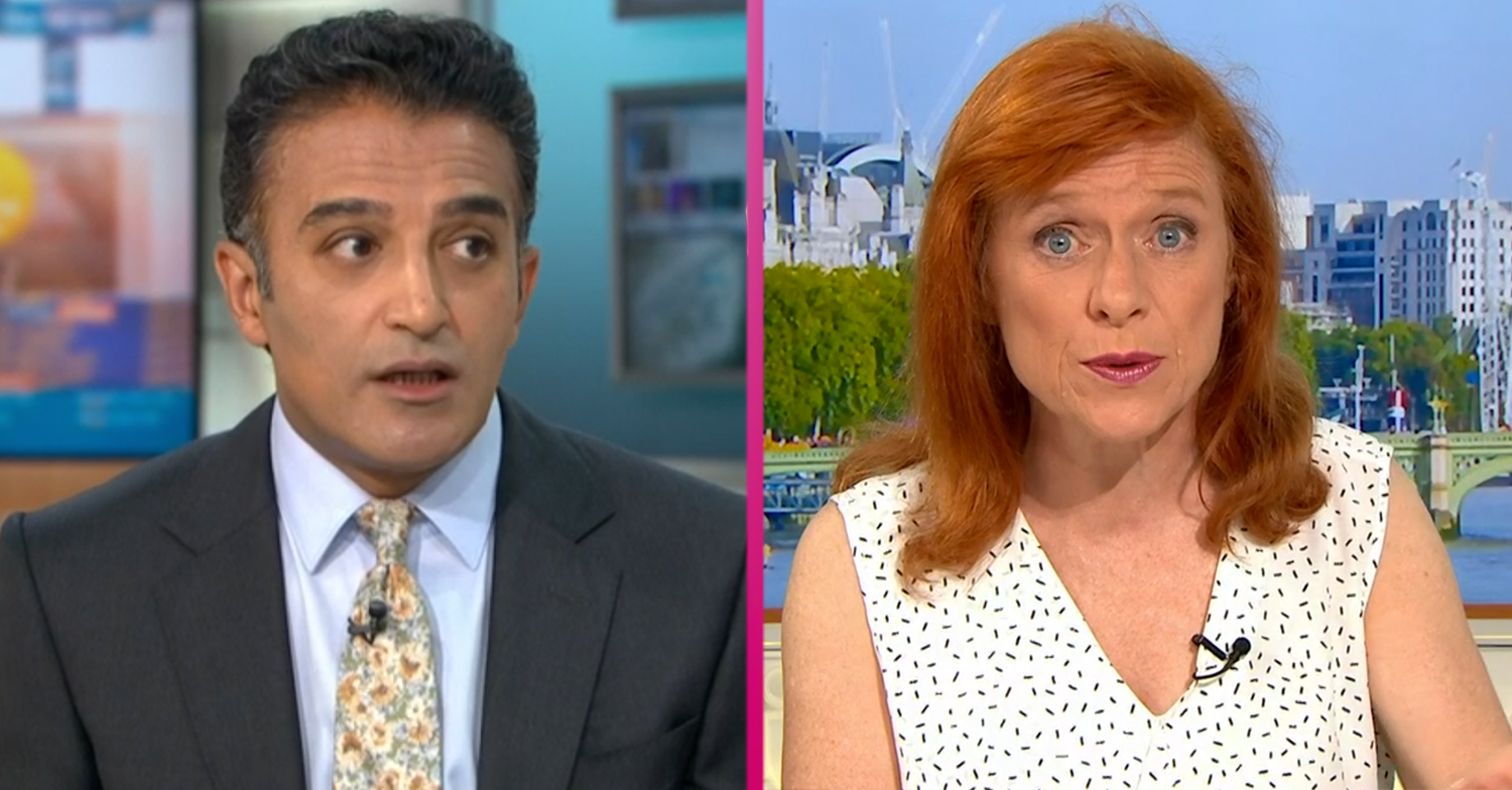 Dr Sarah Jarvis and Adil Ray clash on GMB over 'pointing fingers' at BAME communities