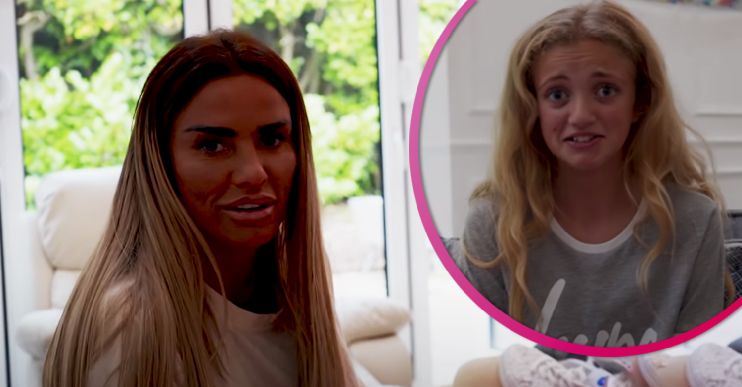 Katie Price worries she's wet herself during daughter Princess' latest YouTube video