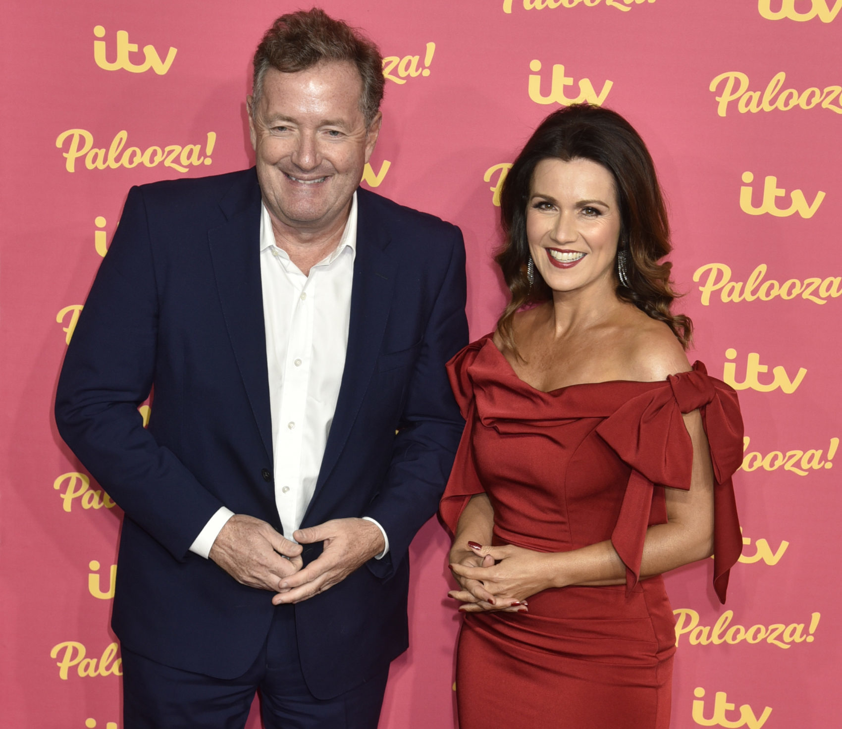 Piers Morgan with GMB co-host Susanna Reid
