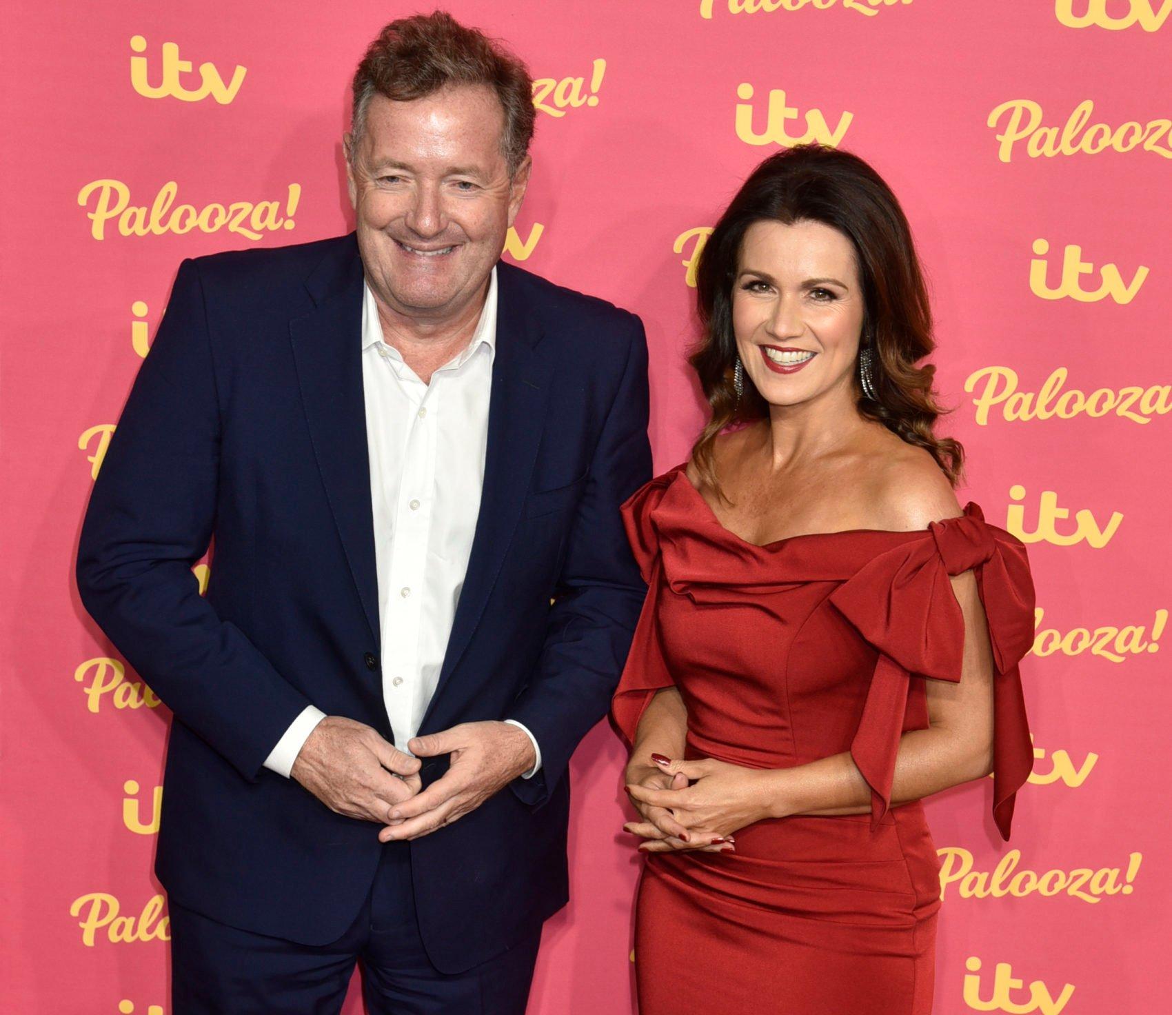 Piers Morgan with GMB co-host Susanna Reid