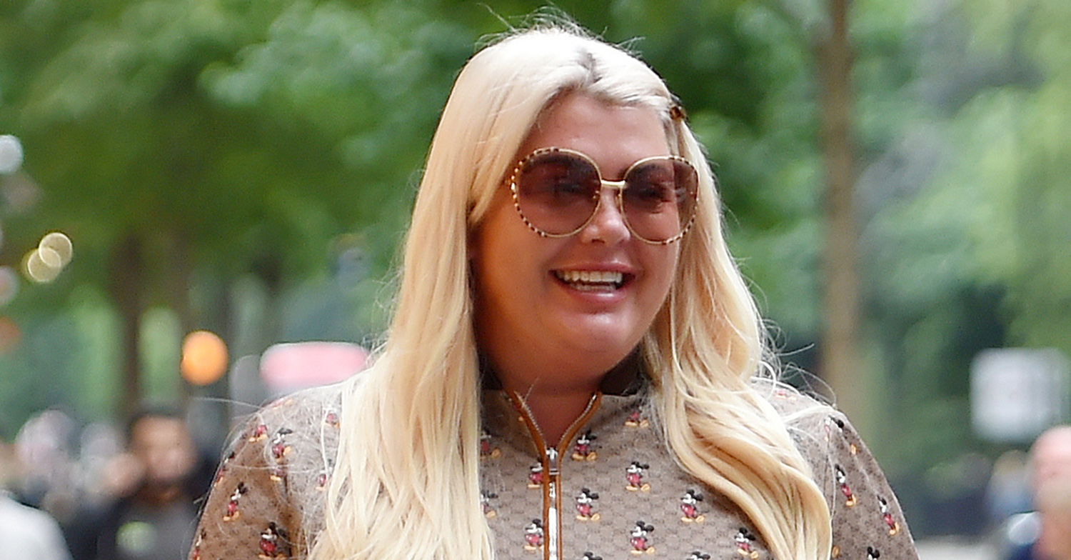 Gemma Collins flashes cleavage in swimsuit as she shows off weight loss