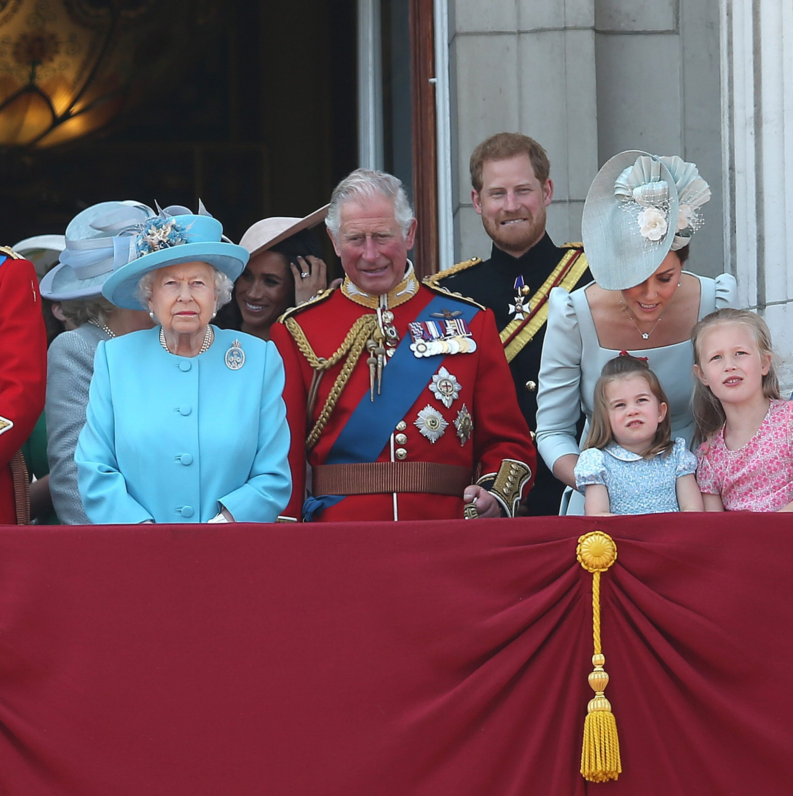 Queen, William and Kate
