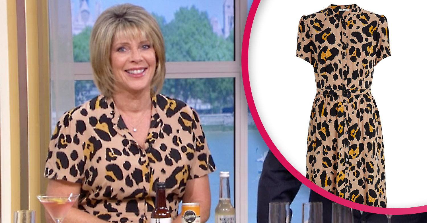 Ruth Langsford's leopard print dress drives This Morning fans wild