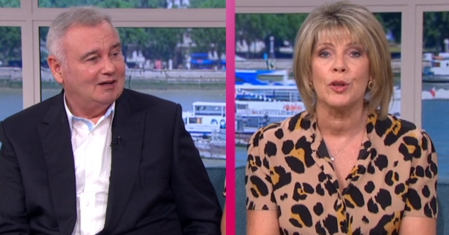 Ruth Langsford jokes Eamonn Holmes is 'drunk' on This Morning