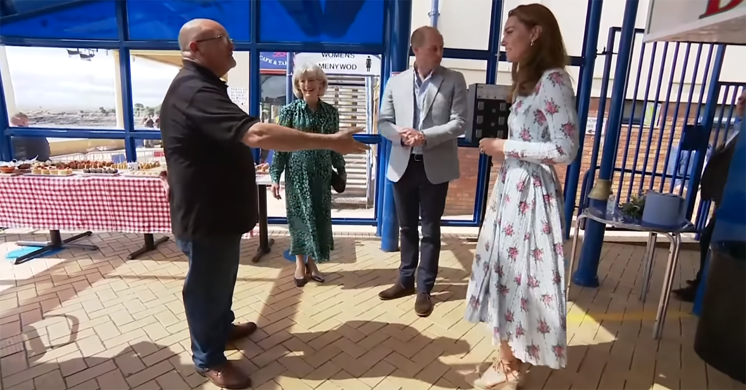 Prince William and Kate Middleton visit Barry Island