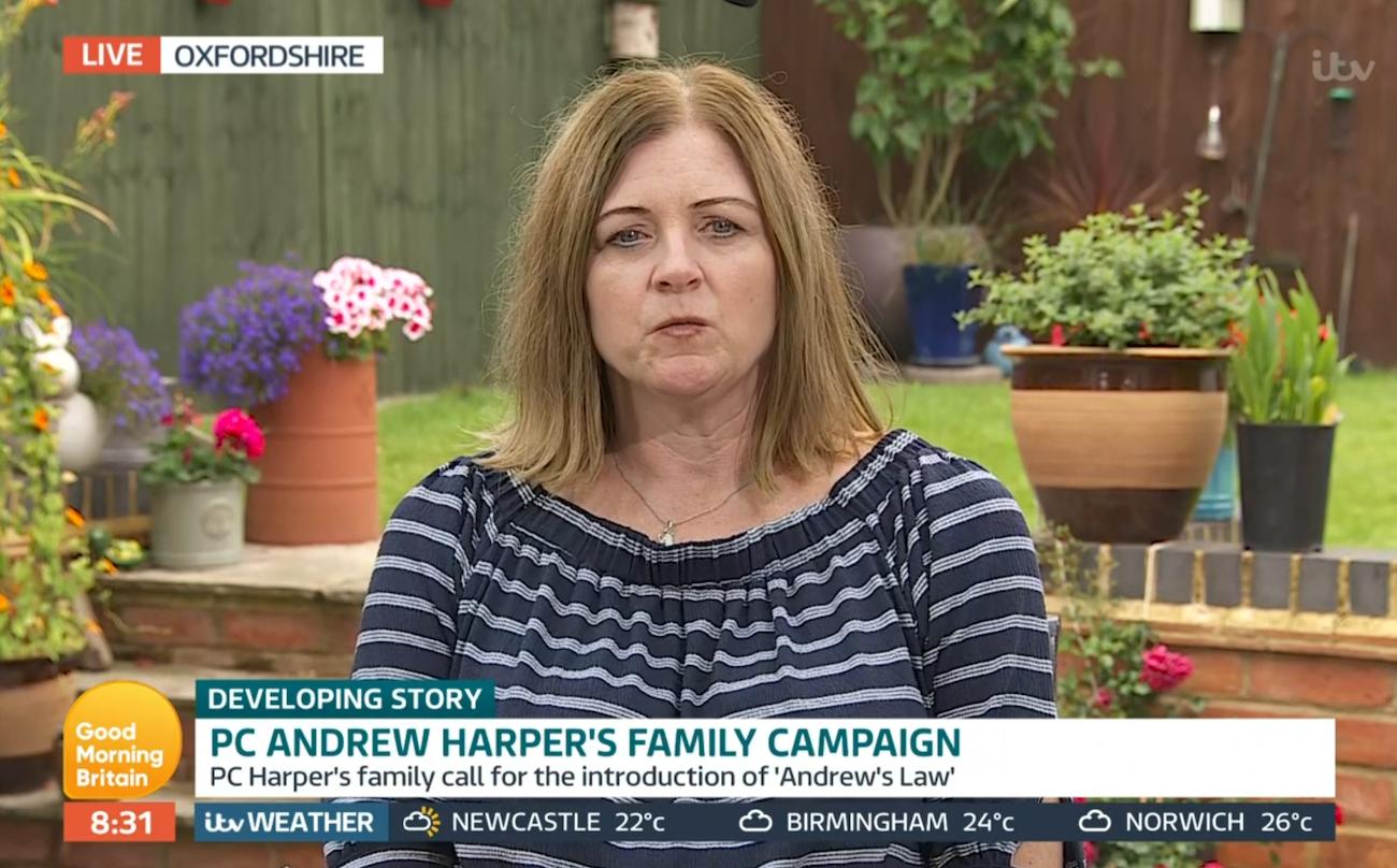 PC Andrew Harper mum Debbie Adlam