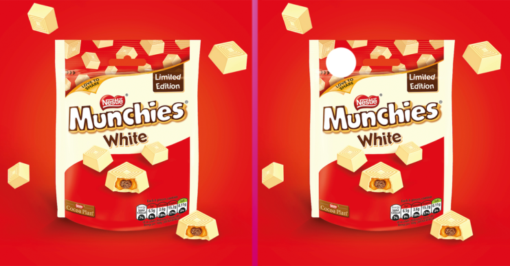 white chocolate munchies