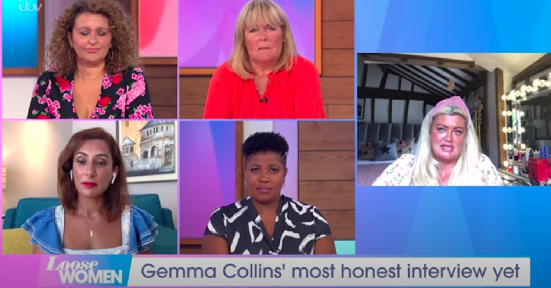 A screenshot of Gemma Collins on Loose Women