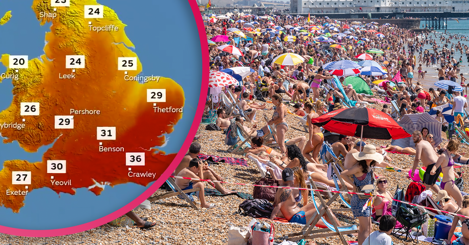 Brits warned to stay away from beaches as temperatures predicted to reach 36C today
