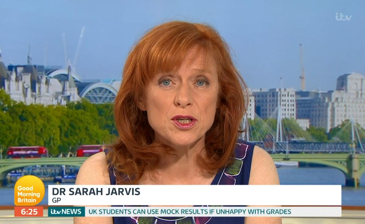 Dr Sarah Jarvis heatwave GMB (Credit: ITV)
