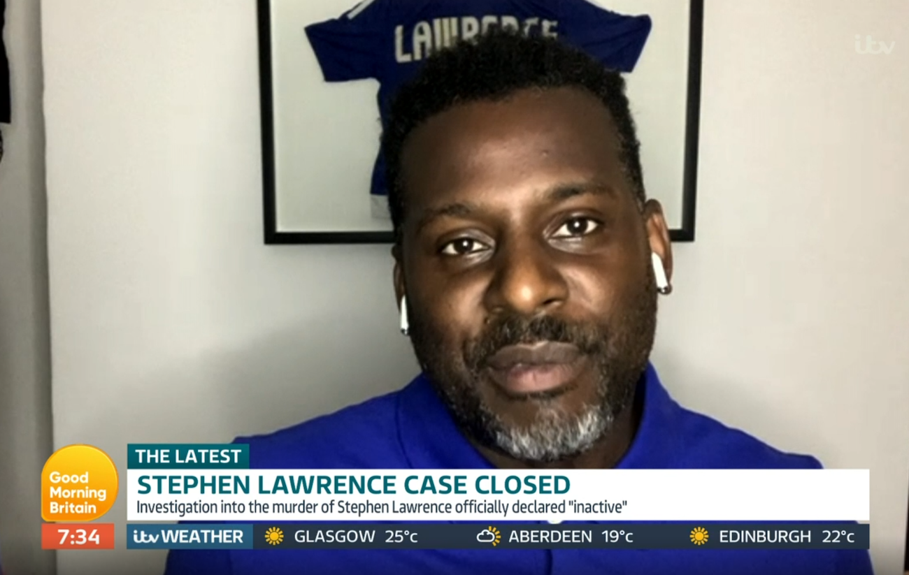 Stephen Lawrence brother Stuart Lawrence GMB (Credit: ITV)