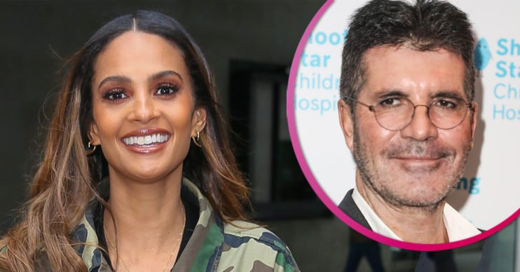Alesha Dixon and Simon Cowell