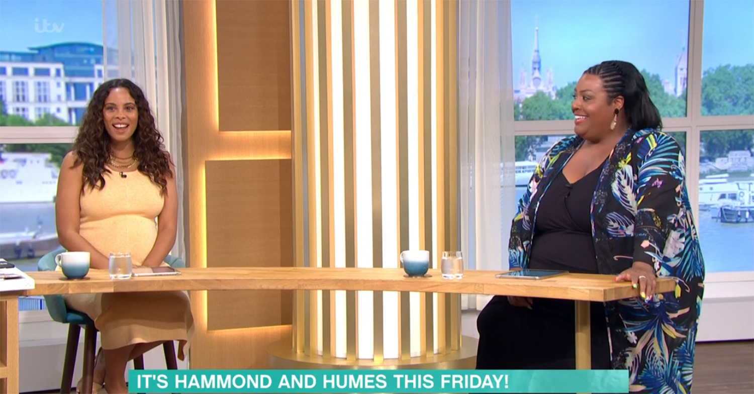 Rochelle Humes and Alison Hammond on This Morning