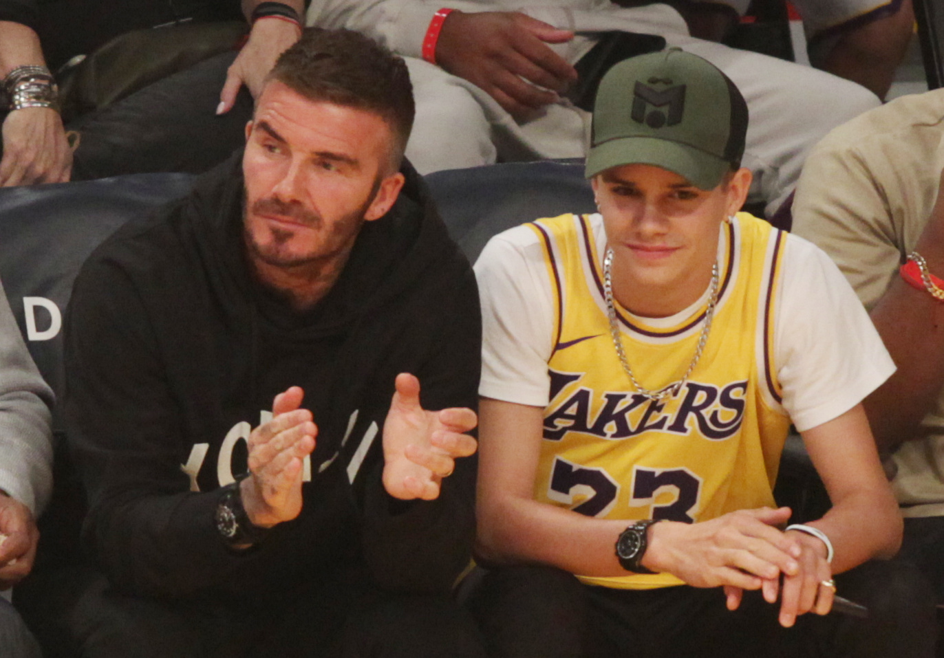 David Beckham and son Romeo Beckam