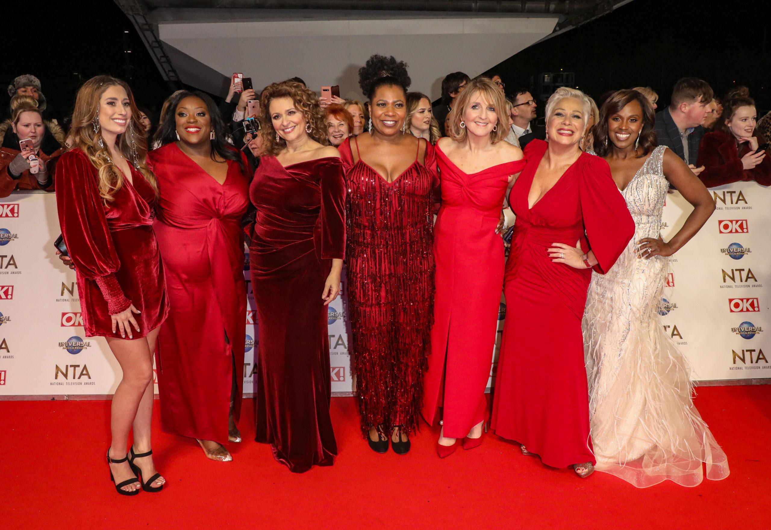 Loose Women's Nadia Sawalha with the cast