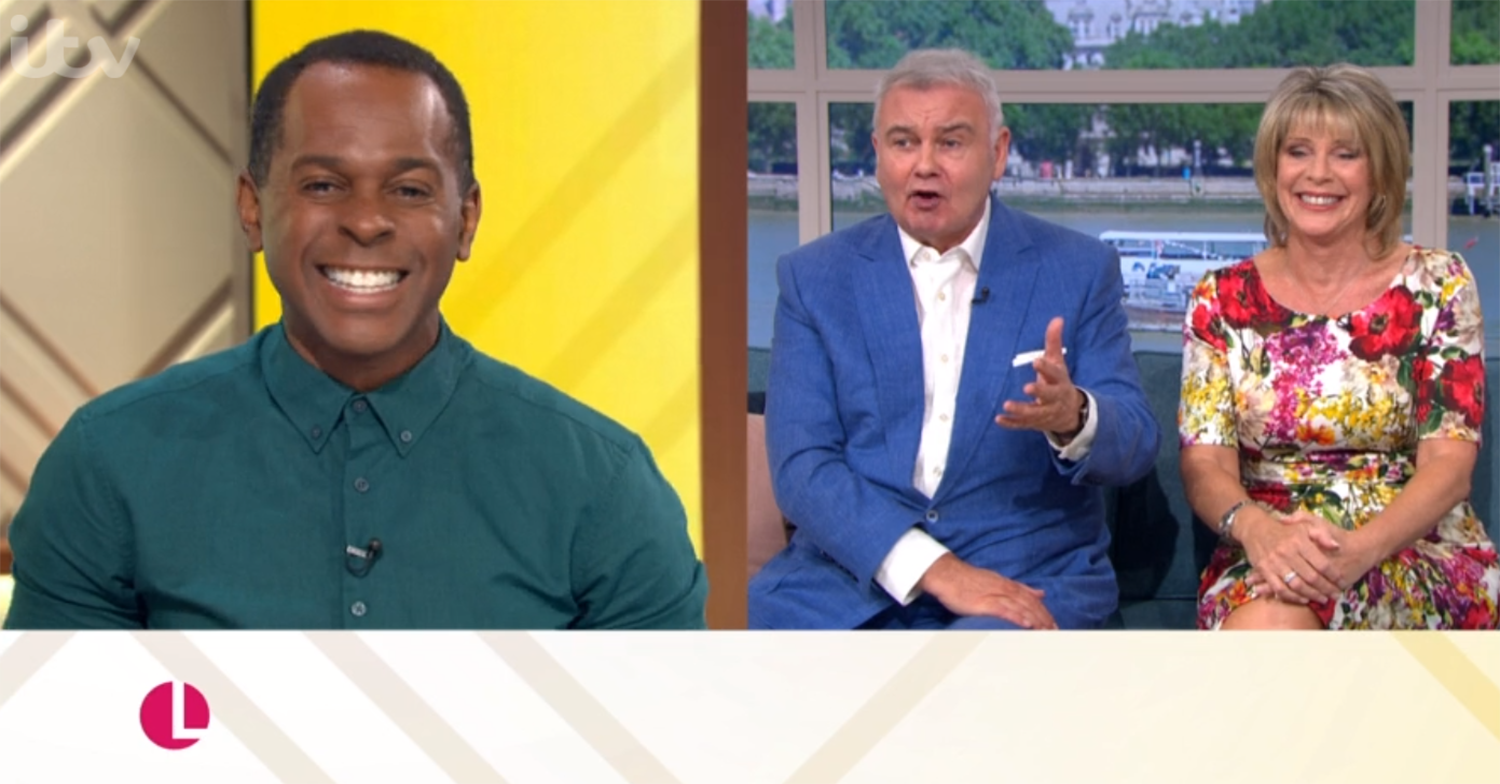 Andi Peters and Eamonn Holmes on Lorraine