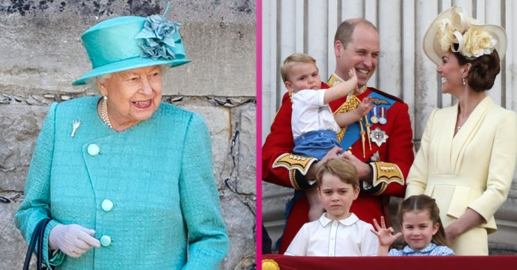 the queen prince william family