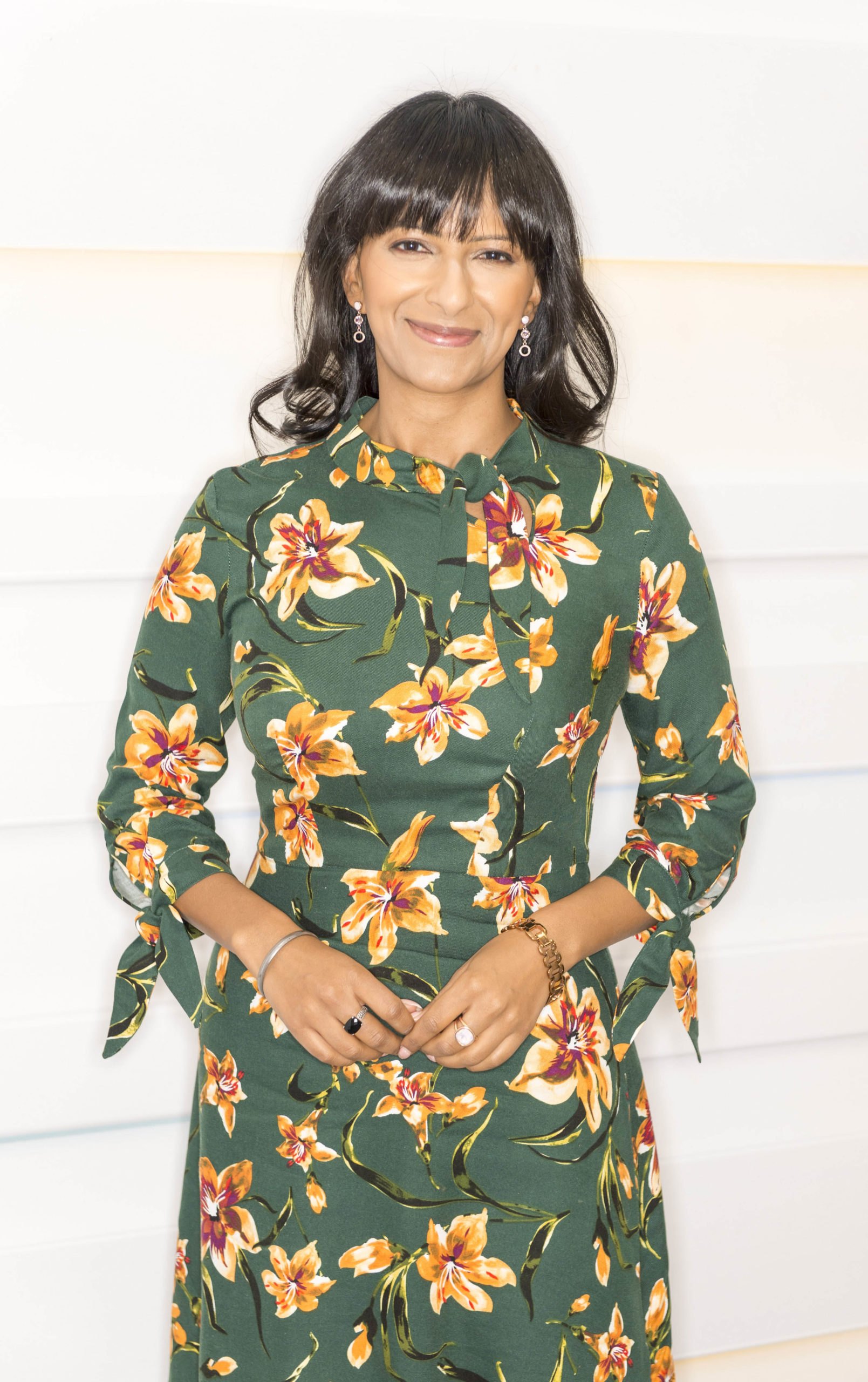 Strictly's Ranvir Singh in a summer dress
