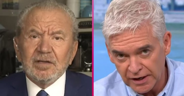 This Morning: Lord Sugar and Phillip Schofield