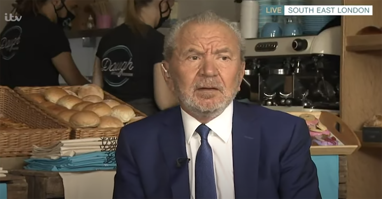 Lord Sugar on This Morning