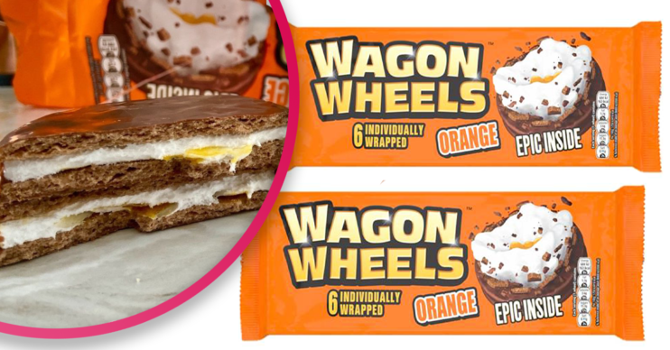 orange wagon wheels