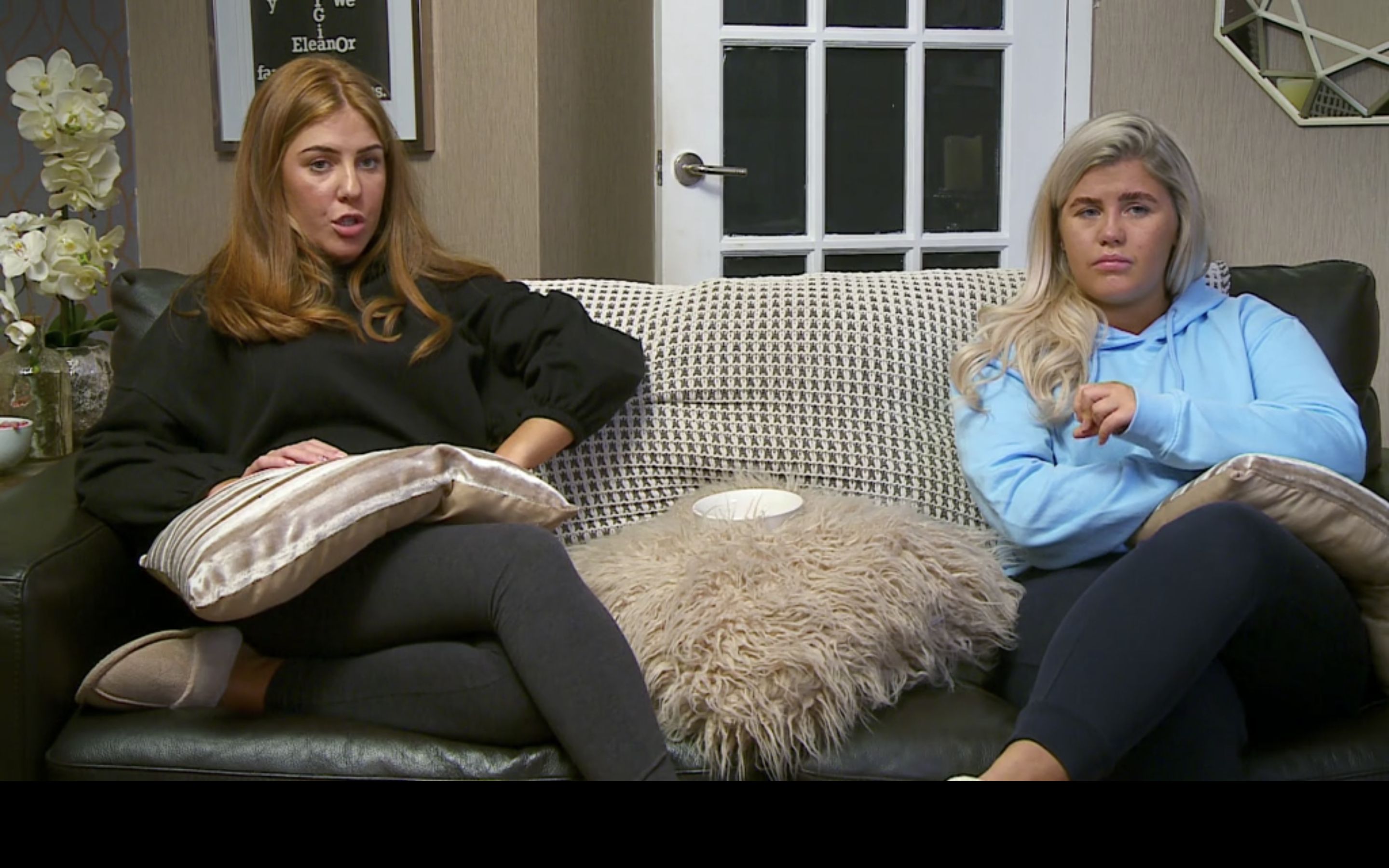 Gogglebox's Abby finally realised that David Tennant is NOT a killer. (Credit: Channel4)